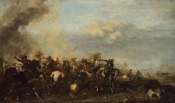 Battle Scene: Clash of Riders | Jacques Courtois | Oil Painting