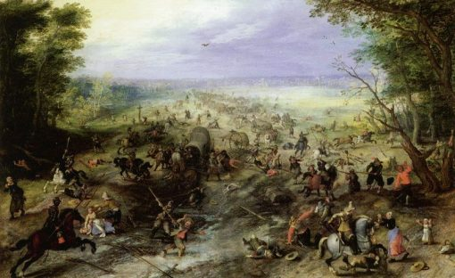 Attack on a Convoy | Jan Brueghel the Elder | Oil Painting