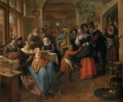 Merrymaking in a Tavern | Jan Havicksz. Steen | Oil Painting