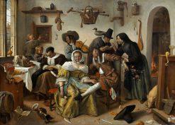 Beware of Luxury(also known as In weelde siet toe) | Jan Havicksz. Steen | Oil Painting