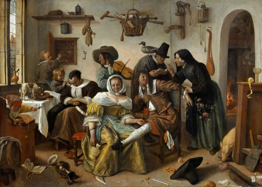 Beware of Luxury(also known as In weelde siet toe) | Jan Havicksz. Steen | Oil Painting