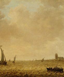 Ships at Dordrecht   Jan van Goyen   Oil Painting