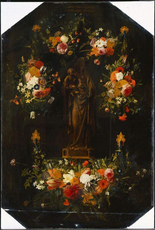 Mary Statuette in a Niche | Johannes van der Baren | Oil Painting