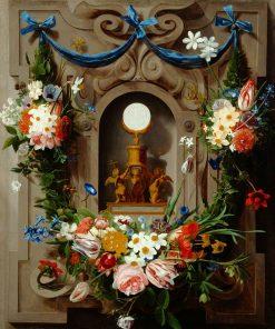 Eucharist in a Niche | Johannes van der Baren | Oil Painting