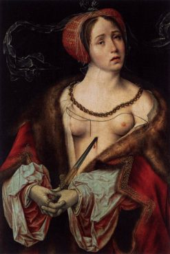 The Suicide of Lucretia | Joos van Cleve | Oil Painting