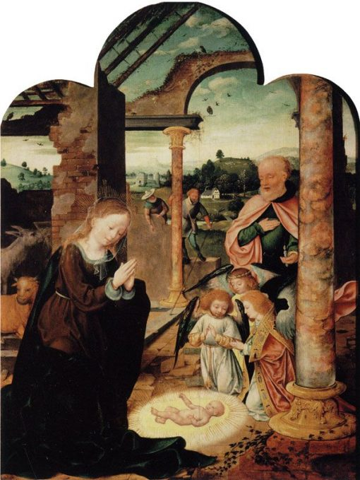 The Nativity | Joos van Cleve | Oil Painting