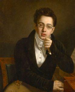Portrait of Frans Schubert   Joseph Abel   Oil Painting