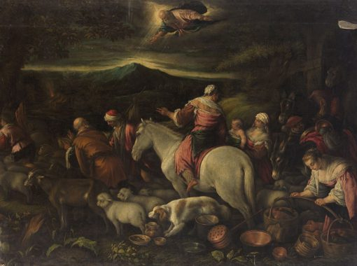 Aufbruch Abrahams ins gelobte Land (Abraham in the Holy Land) | Leandro Bassano | Oil Painting