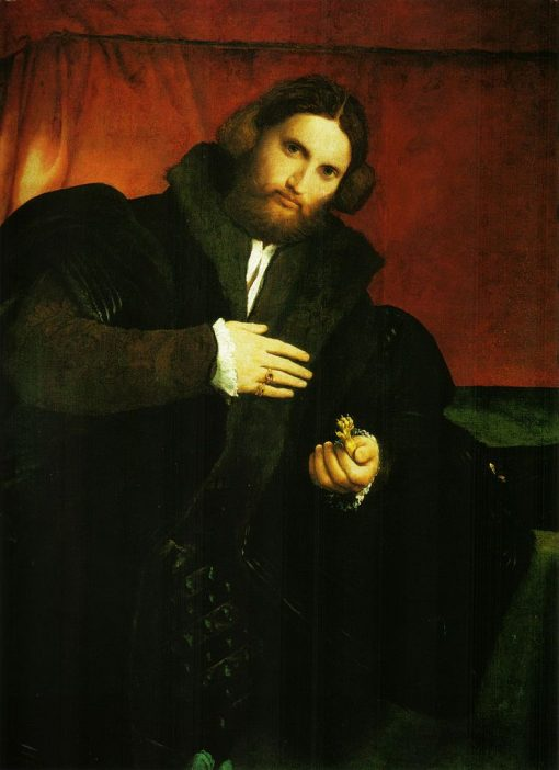 A Man with a Lion's Paw | Lorenzo Lotto | Oil Painting