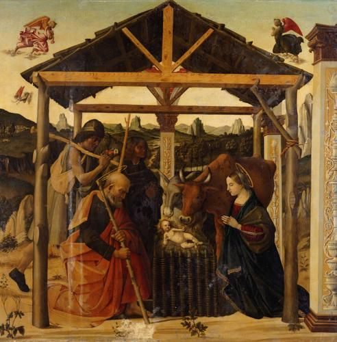 Blessing the Infant Christ Child | Luca Signorelli | Oil Painting