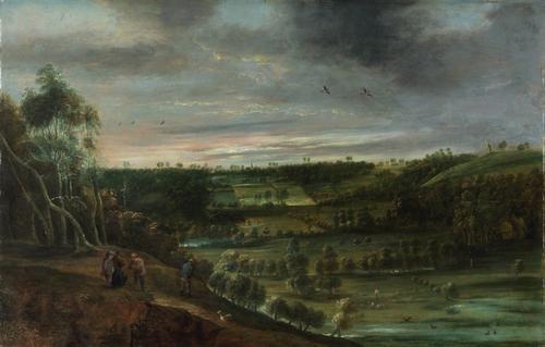 Landscape with Figures | Lucas van Uden | Oil Painting