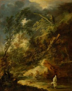 Landscape with a Monk in a Storm | Marco Ricci | Oil Painting