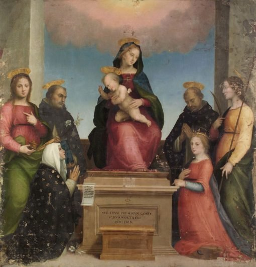 Mary with Katharine of Siena