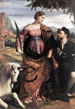 Saint Justina with the Unicorn | Moretto da Brescia | Oil Painting