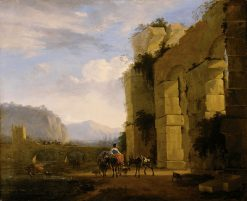 Italian Landscape with Aqueduct | Nicolaes Berchem | Oil Painting