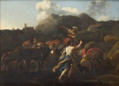Shepherds and a Herd | Nicolaes Berchem | Oil Painting