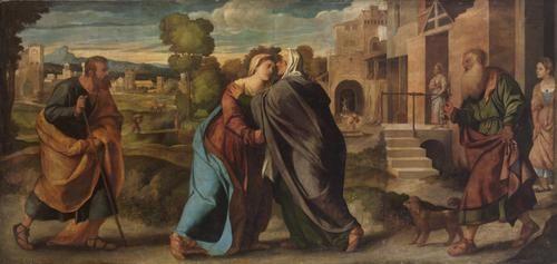 Heimsuchung Mariae   Palma il Vecchio   Oil Painting