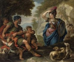The Meeting of Erminia   Paolo de' Matteis   Oil Painting