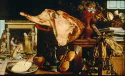 Kitchen Feast with Christ in the House of Martha and Mary | Pieter Aertsen | Oil Painting