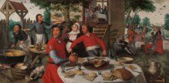 Farmers' Feast | Pieter Aertsen | Oil Painting