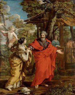 Hagar and the Angel | Pietro da Cortona | Oil Painting