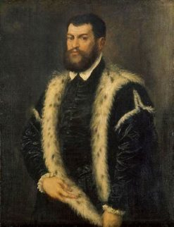 Man in Fur-Trimmed Coat | Titian | Oil Painting