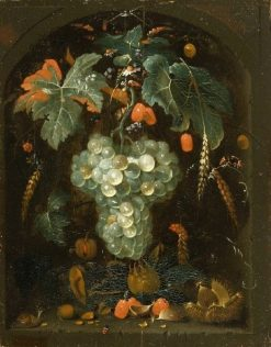 Grapes in a Niche | Abraham Mignon | Oil Painting