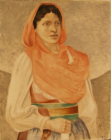 La paysanne grecque(also known as The Greek Farmer or The Greek Peasant) | AndrE Derain | Oil Painting