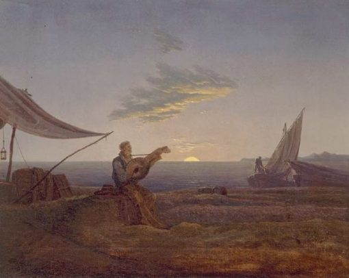 Moon Rising over the Sea | Carl Gustav Carus | Oil Painting