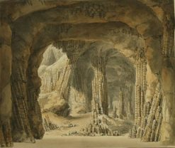 Fingal's Cave on the Island of Staffa | Carl Gustav Carus | Oil Painting