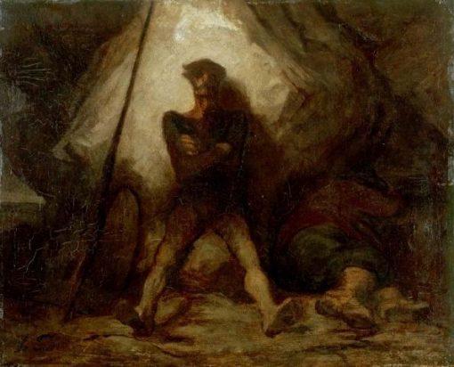 Don Quixote's Vigil | HonorE Daumier | Oil Painting