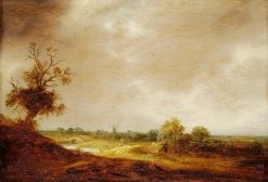 Landscape with a Watercourse and Farm | Isaac van Ostade | Oil Painting