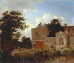 Schloss Nijenrode | Jan van der Heyden | Oil Painting
