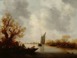 River Landscape with Fishermen | Jan van Goyen | Oil Painting