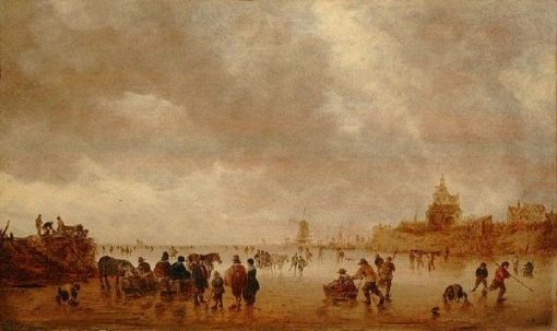 Winter Pleasures on the Merwede | Jan van Goyen | Oil Painting