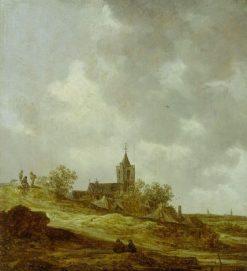 Village Church seen from the Dunes | Jan van Goyen | Oil Painting