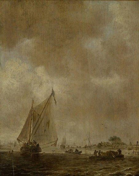 Sailing Ship   Jan van Goyen   Oil Painting
