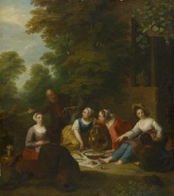 A Picnic | Jan van Mieris | Oil Painting