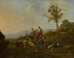 Landscape with Shepherds | Jan van Ossenbeck | Oil Painting