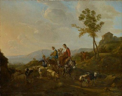 Landscape with Shepherds | Jan van Ossenbeck | Oil Painting