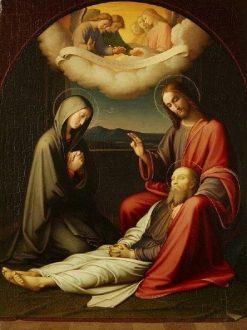 The Death of Saint Joseph | Johann Friedrich Overbeck | Oil Painting