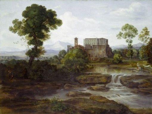 Sudliche Ebene mit Kloster (Southern Plain with Monastery)   Johann Heinrich Ferdinand Olivier   Oil Painting