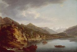 Brienz and Lake of Brienz | Johann Ludwig Aberli | Oil Painting