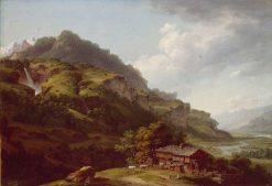 The Oberhasli Valley | Johann Ludwig Aberli | Oil Painting