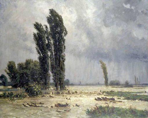 Flood   Johann Stabli   Oil Painting