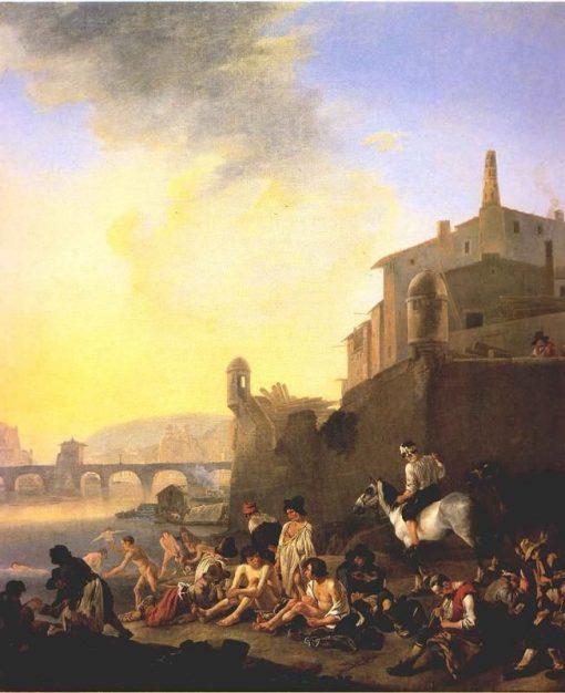 Bathing Gypsies | Johannes Lingelbach | Oil Painting
