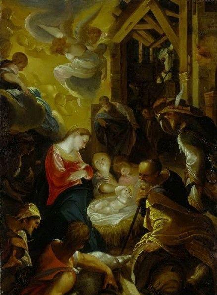 The Adoration of the Shepherds   Joseph Heintz the Elder   Oil Painting