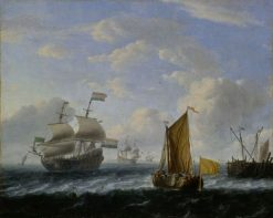 Dutch Warships | Ludolf Backhuysen | Oil Painting