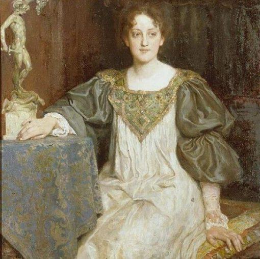 Portrait of a Young Lady (Lili Heigl-Burger) | Wilhelm Balmer | Oil Painting