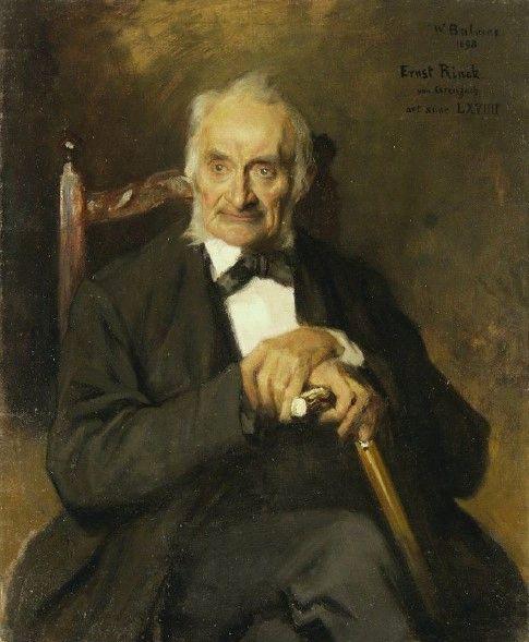 Portrait of my Uncle Ernst Rinck from Grenzach   Wilhelm Balmer   Oil Painting